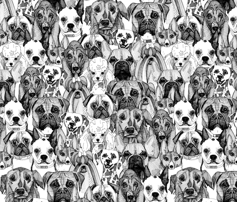 just dogs fabric by scrummy on Spoonflower - custom fabric