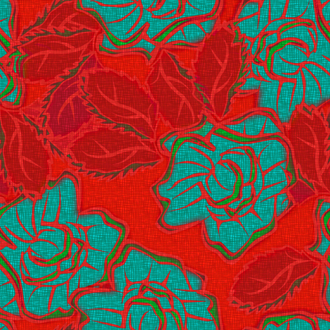 50s_Floral Santa Fe Sexy Senoritas fabric by glimmericks on Spoonflower - custom fabric
