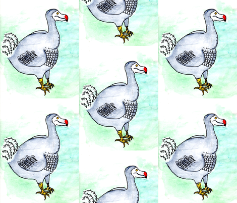 dodo-a-go-go fabric by studiobytheforest on Spoonflower - custom fabric