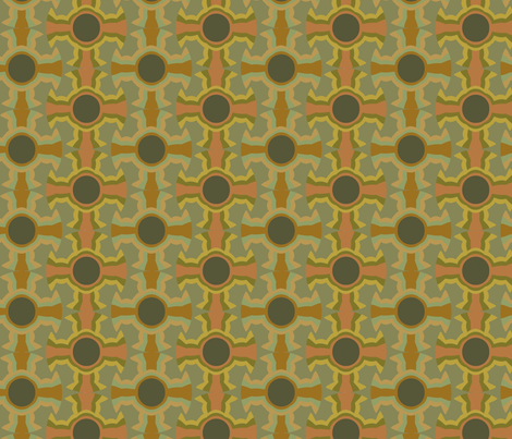 Albuquerque Cross (Clays) fabric by david_kent_collections on Spoonflower - custom fabric