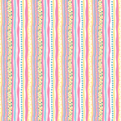 Harlequin Darlings: Vertical Stripes_small fabric by tallulahdahling on Spoonflower - custom fabric
