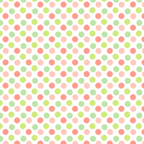 Sherbert Polka small fabric by flyingfish on Spoonflower - custom fabric