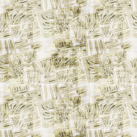 Sandstone Glyphs fabric by donna_kallner on Spoonflower - custom fabric