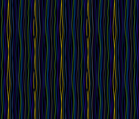 Wavy Stripes Black. fabric by modgeek on Spoonflower - custom fabric