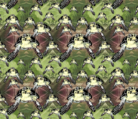 Big turtles and Baby Turtles fabric by art_on_fabric on Spoonflower - custom fabric