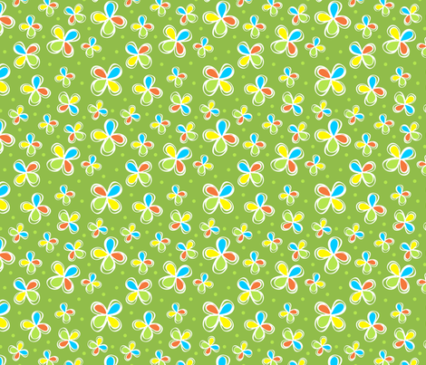 Dodo Bird Green Floral fabric by holladay on Spoonflower - custom fabric