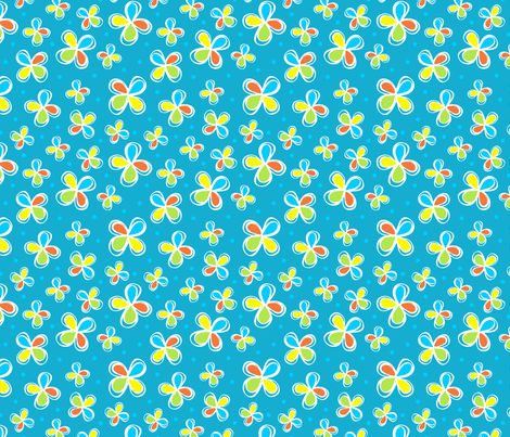 Dodo Bird Blue Floral  fabric by holladay on Spoonflower - custom fabric