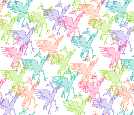 dancing dodos fabric by maggiedee on Spoonflower - custom fabric