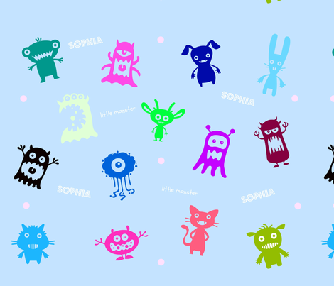 Little Monster, ATD 403 fabric by arttreedesigns on Spoonflower - custom fabric