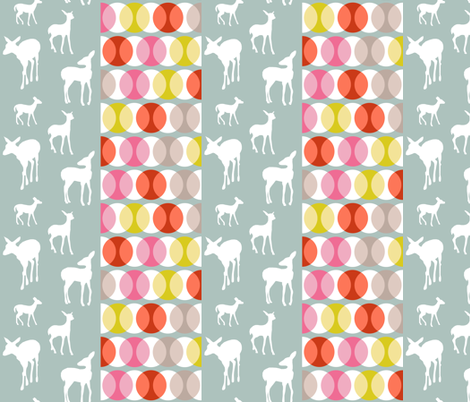 oh_deer_stripe_contrast fabric by lauradejong on Spoonflower - custom fabric