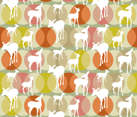 oh_deer_yellowed fabric by lauradejong on Spoonflower - custom fabric