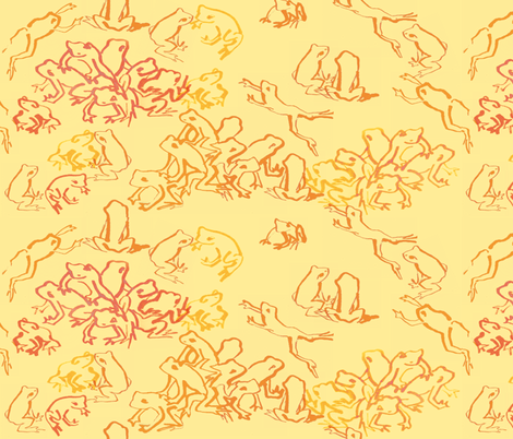 goldentoad fabric by johanna_design on Spoonflower - custom fabric
