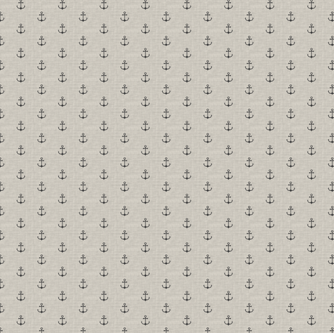 Anchor - gray off white texture (s) fabric by kimsa on Spoonflower - custom fabric