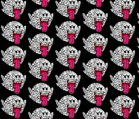 boo fabric by geekinspirations on Spoonflower - custom fabric