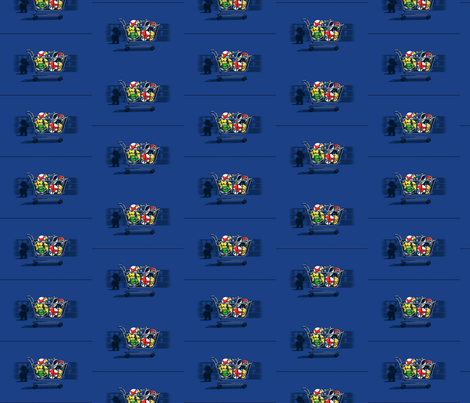 mario_cart fabric by geekinspirations on Spoonflower - custom fabric