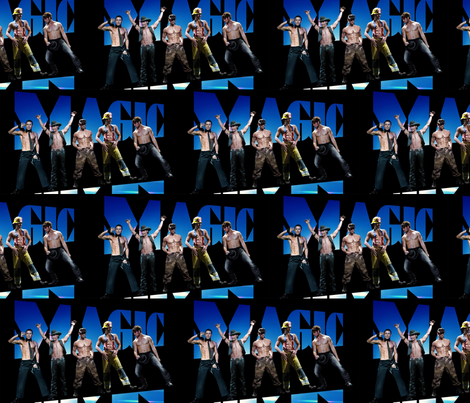 magic mike, all of the boys fabric by geekinspirations on Spoonflower - custom fabric