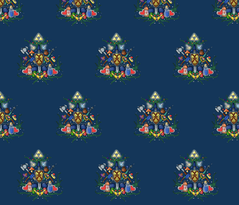 for the love of zelda fabric by geekinspirations on Spoonflower - custom fabric