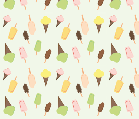 Ice Creams fabric by icypop on Spoonflower - custom fabric