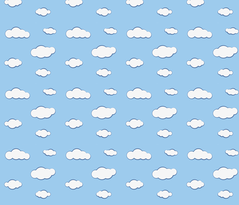 clouds_square fabric by icypop on Spoonflower - custom fabric