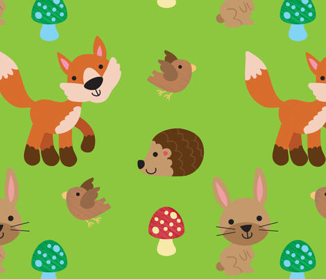 woodland_life fabric by fhiona on Spoonflower - custom fabric