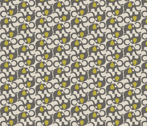 MAMMOTH_GREY_YELLOW fabric by glorydaze on Spoonflower - custom fabric