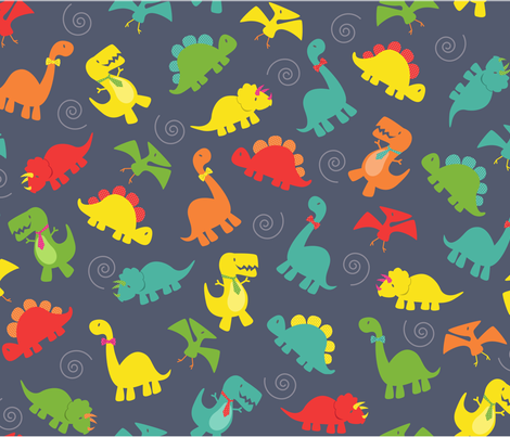 Fancy Dinos fabric by alissecourter on Spoonflower - custom fabric