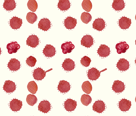 cestlaviv_raspberry clafoutis fabric by cest_la_viv on Spoonflower - custom fabric