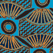 aFRICAN CHIEF  Blue