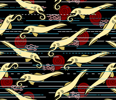 Heliocoprion! fabric by thirdhalfstudios on Spoonflower - custom fabric
