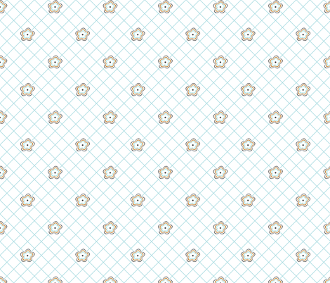 daisy_ripple_lattice fabric by christiem on Spoonflower - custom fabric