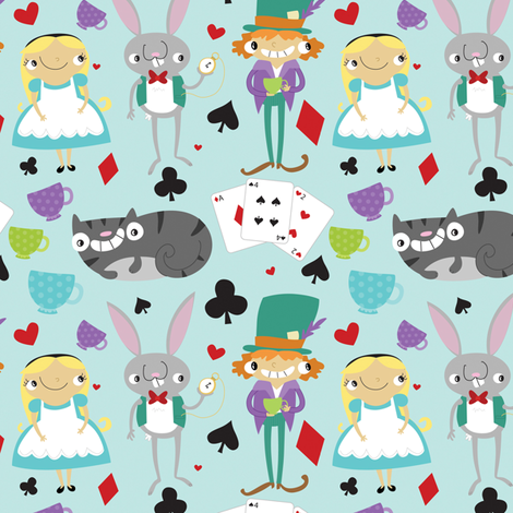 Alice & Friends fabric by pigandpumpkin on Spoonflower - custom fabric