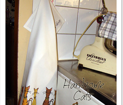 Handsome Cats - 4 tea towels