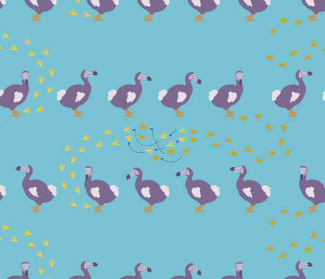 In the Steps of the Dodo fabric by gershamabob on Spoonflower - custom fabric