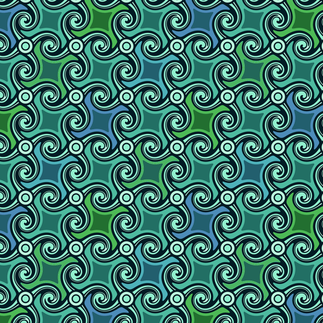 wavespiral tesselation fabric by lilichi on Spoonflower - custom fabric