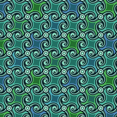wavespiral tesselation fabric by lilichi on Spoonflower - custom fabric