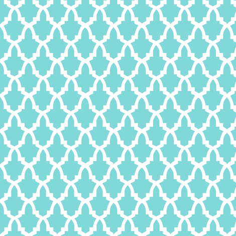 morroco aqua tiles  fabric by birds_have_flowers on Spoonflower - custom fabric