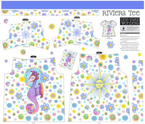 Seahorse riviera tee fabric by dinorahdesign on Spoonflower - custom fabric