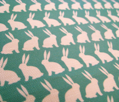 Bunnies on Parade - Teal