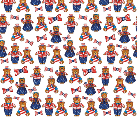 INDEPENDENCE DAY BEARS fabric by bluevelvet on Spoonflower - custom fabric