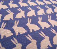 Bunnies on Parade - Dark Blue