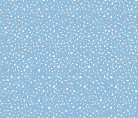 stars on stripes, pale blue fabric by weavingmajor on Spoonflower - custom fabric