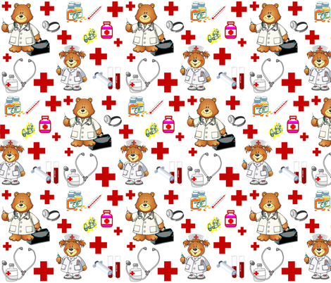 NURSING SCRUBS fabric by bluevelvet on Spoonflower - custom fabric