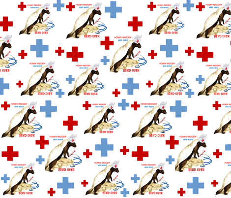 HONEY BADGER HEAD NURSE fabric by bluevelvet on Spoonflower - custom fabric