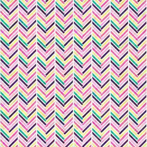 Multi-Colored Herringbone