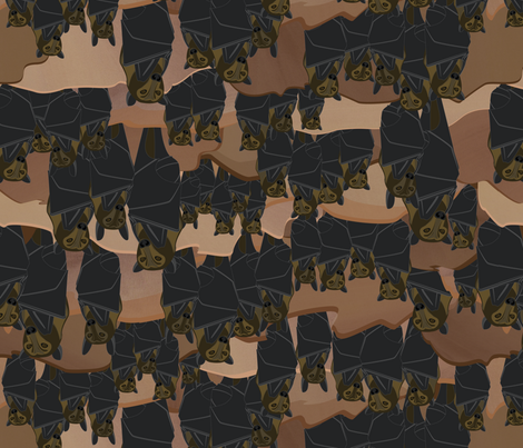 Extinct and Endangered Bats fabric by wildnotions on Spoonflower - custom fabric