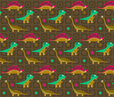 Delightful Dinos fabric by dianef on Spoonflower - custom fabric