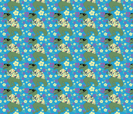 Aloha! Lounge Lizard fabric by brandymiller on Spoonflower - custom fabric