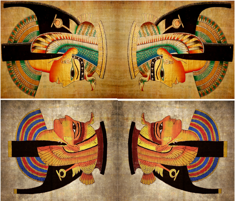 Egyptian_pillow_set_1 fabric by mysticalarts on Spoonflower - custom fabric