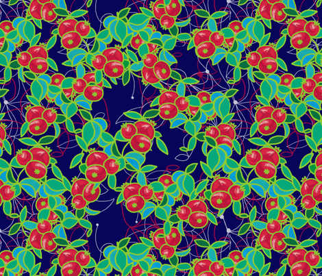 Pomegranates fabric by su_g on Spoonflower - custom fabric