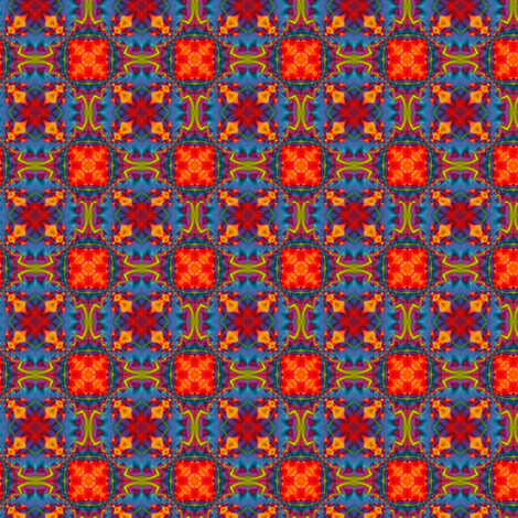 Blue & Orange Hop Scotch fabric by zebralan on Spoonflower - custom fabric